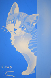ステンドグラス 猫 CAT