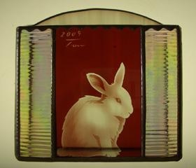ステンドグラス インテリア ウサギ