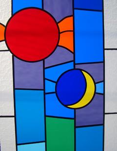 ステンドグラス 光と陰 時間 光陰矢のごとし