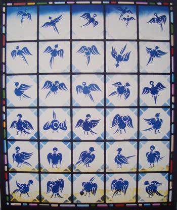 青い鳥 ステンドグラス