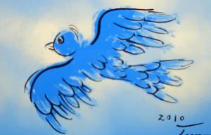 ステンドグラス 青い鳥