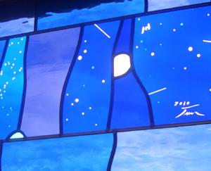 ステンドグラス はやぶさ イトカワ NASA