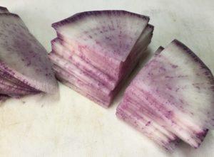 紫大根銀杏切り