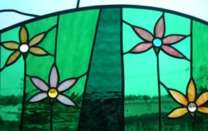 ステンドグラス 花園