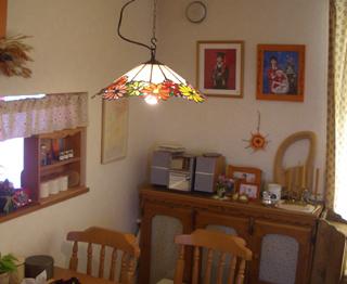 電球 ステンドグラス ランプ