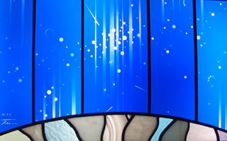 ギャラリーステラ 宇宙 ステンドグラス 顔