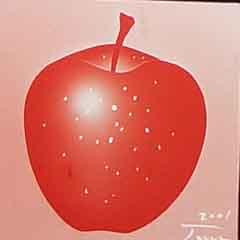 ステンドグラス エッチング りんご