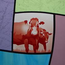 日本��角牛 ステンドグラス
