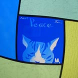 ステンドグラス ネコ