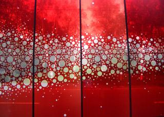ステンドグラス作品「眠りの構築」