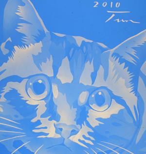 ステンドグラス 猫