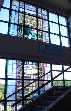 ステンドグラス 西横浜国際病院