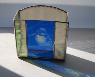ステンドグラス エッチングボックス カワセミ