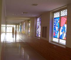 ステンドグラス 平岡高校