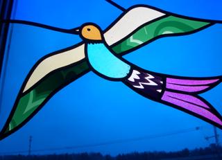 ステンドグラス 鳥
