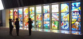 ステンドグラス 鉄道博物館 山本容��
